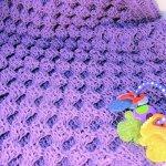 CrochetKim Free Crochet Pattern | Honey Sweet Baby Blanket @crochetkim