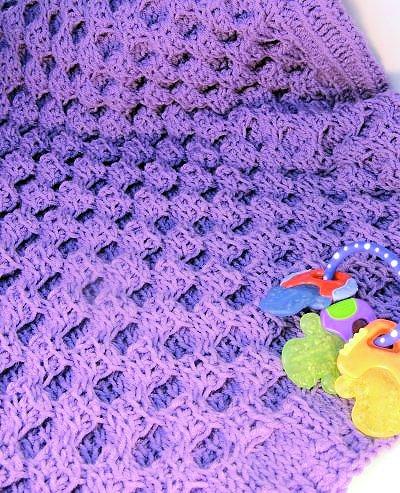 Honey Sweet Baby Blanket Free Tunisian Crochet Pattern