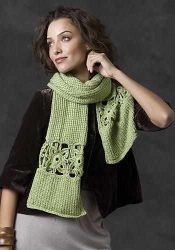CrochetKim Free Crochet Knit Combo Pattern | Stone Creek Scarf