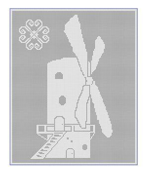 CrochetKim Free Crochet Pattern | Windmill Filet Chart @crochetkim