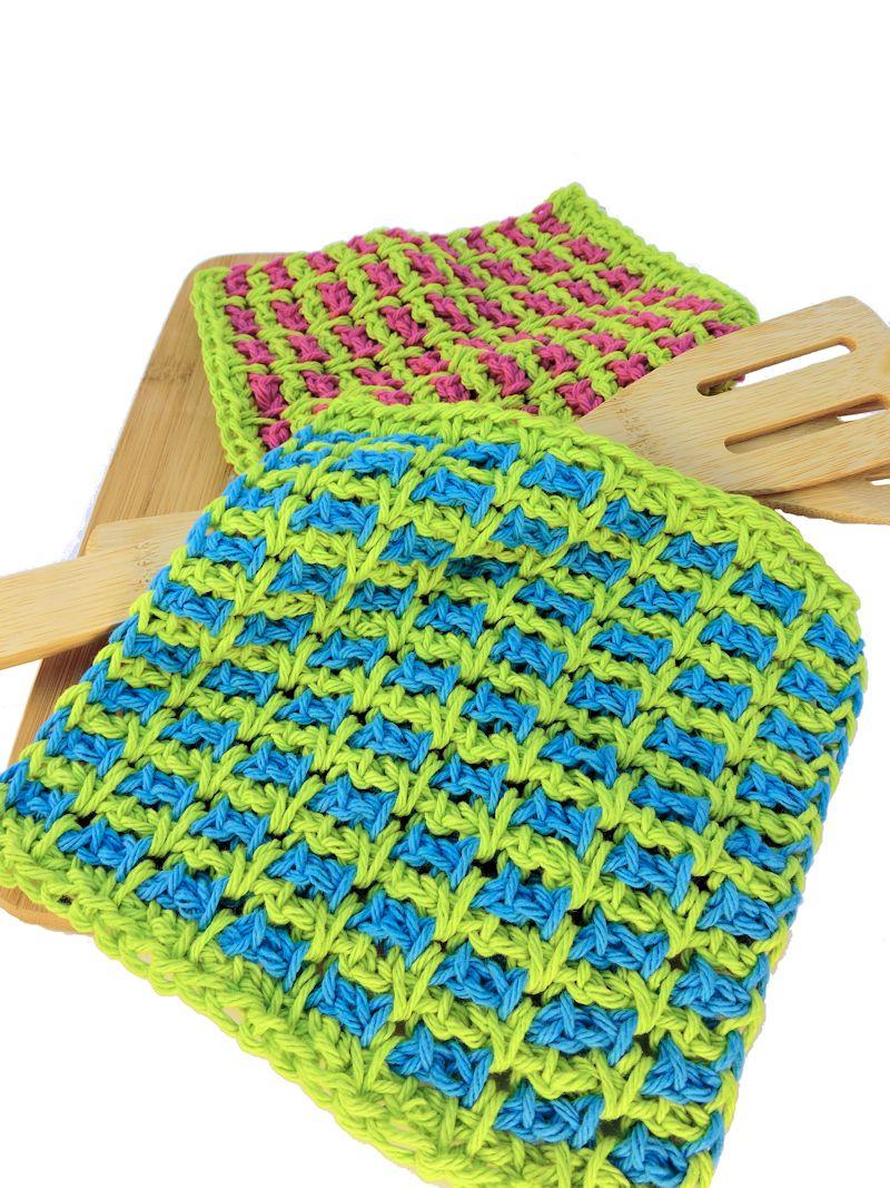 CrochetKim Free Crochet Pattern | Wishy Washies Washcloths @crochetkim