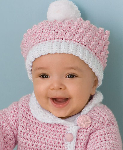 Victorian Rose Baby Hat Free Crochet Pattern