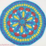 Turquoise Mandala Doily Part 1
