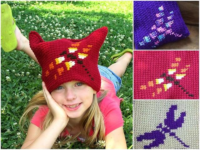 Dragonfly Graph Hat Free Crochet Pattern