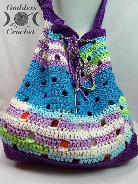 Free Crochet Pattern: Hip Squares Beach Tote