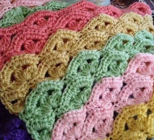 Irish Wave Blanket Free Crochet Pattern