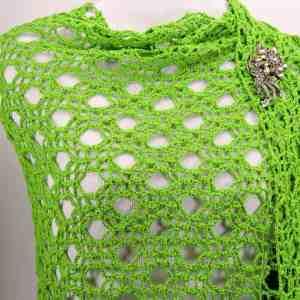Rings Fling Shawl Wrap CrochetKim Free Crochet Pattern