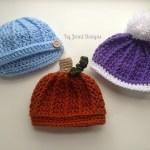 Free Crochet Pattern: Newborn Ribbed Beanie
