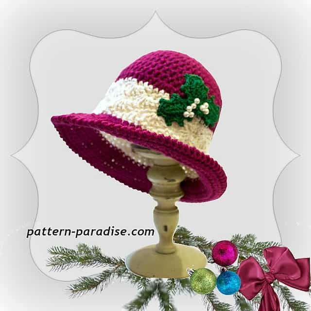 Free Crochet Pattern: Holiday Joy Hat