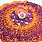 Lion Comfort Toy Lovey | CrochetKim Free Crochet Pattern