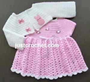 Free Crochet Pattern: Baby Dress and Bolero
