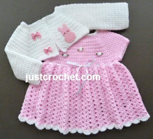 Baby Dress and Bolero Free Crochet Pattern