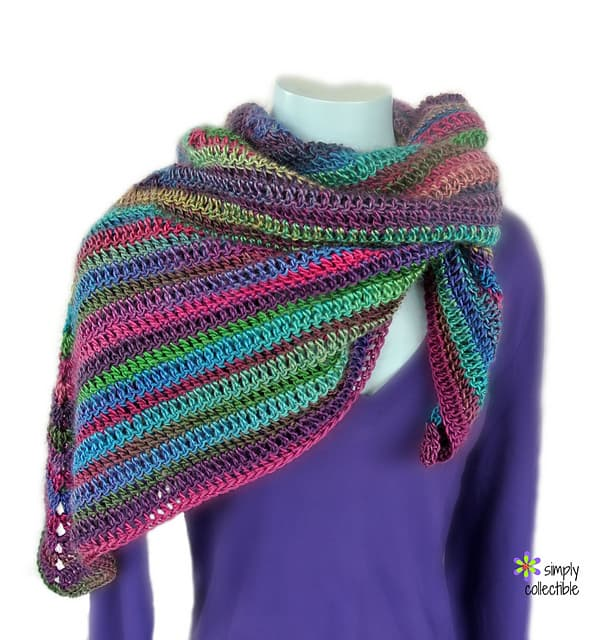 Free Crochet Pattern: Lily's Rose Garden Shawl