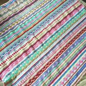 Free Crochet Pattern: As We Go Stripey Blanket