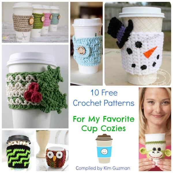 Link Blast: 10 Free Crochet Patterns for Cup Cozies | CrochetKim™