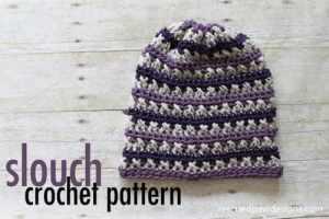 Free Crochet Pattern: Sugared Plum Slouch