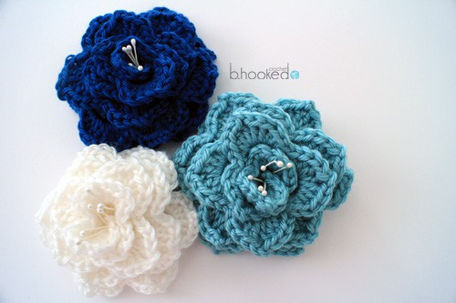 Crocodile Stitch Flower Free Crochet Pattern