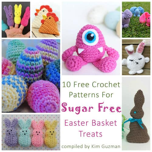 Link Blast: 10 Free Crochet Patterns for Sugar Free Easter Basket Treats