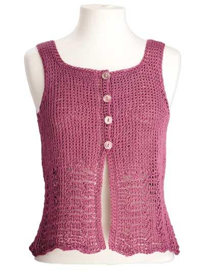 CrochetKim Free Crochet Pattern | Elisa Sleeveless Top