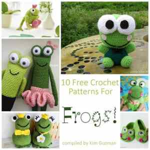 Link Blast: 10 Free Crochet Patterns for Frogs
