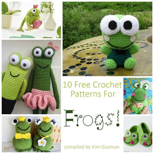 Link Blast 10 Free Crochet Patterns For Frogs Crochetkim