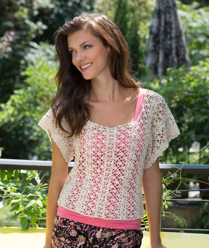Free Crochet Pattern: Lace Essence Top