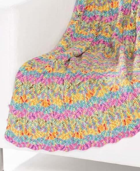 Free Crochet Pattern: Soft Impressionist Throw