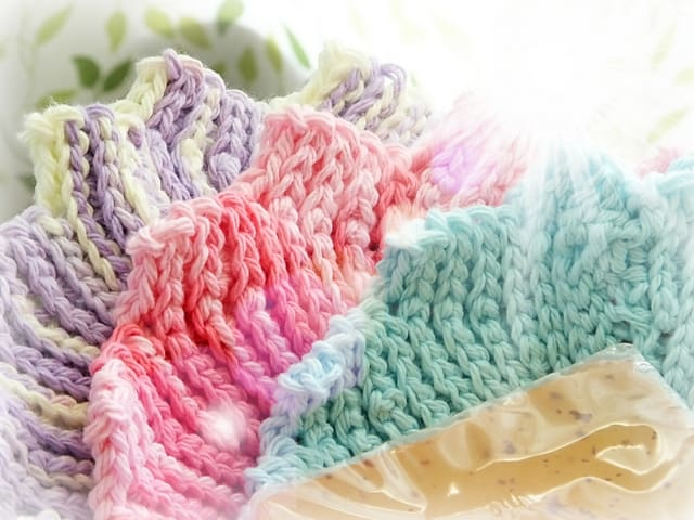 Free Crochet Pattern: 14 Points Washcloth