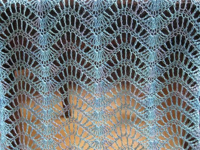 Free Crochet Pattern: Feather and Fan Wrap