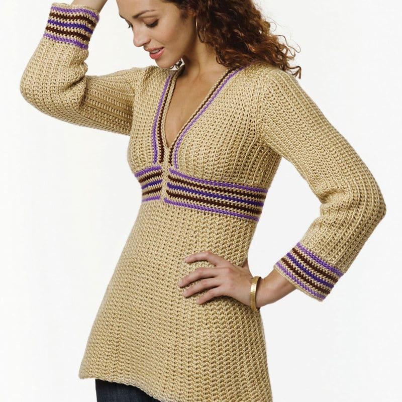Simple Tunic | CrochetKim Free Crochet Pattern
