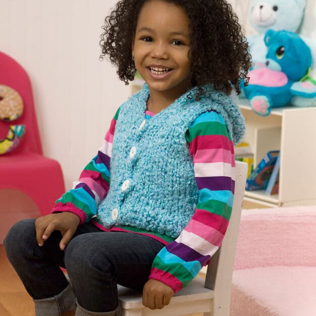 Baby Clouds Hoodie Vest Free Knit Pattern