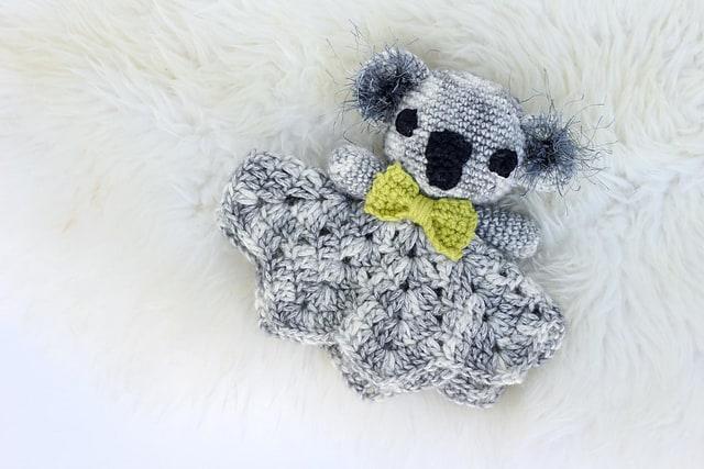 Free Crochet Pattern: Cuddly Koala Lovey