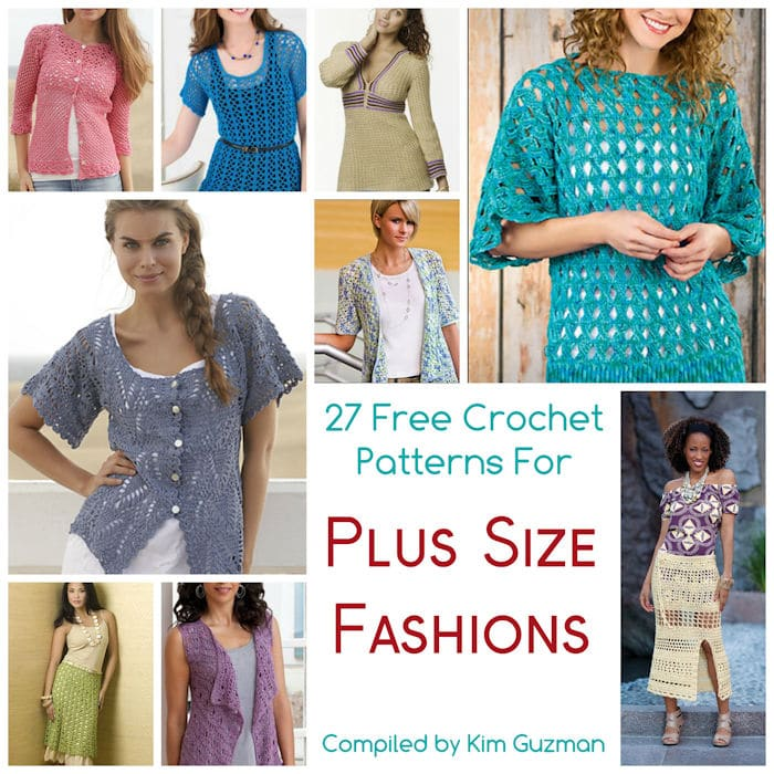27 Free Crochet Patterns for Tops Tunics and Sweaters Available in Plus Size