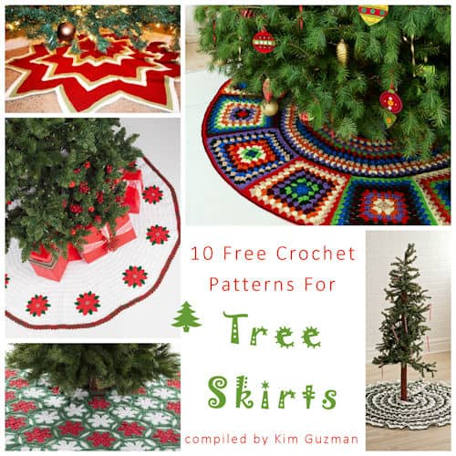 link blast 10 free crochet patterns for christmas tree skirts