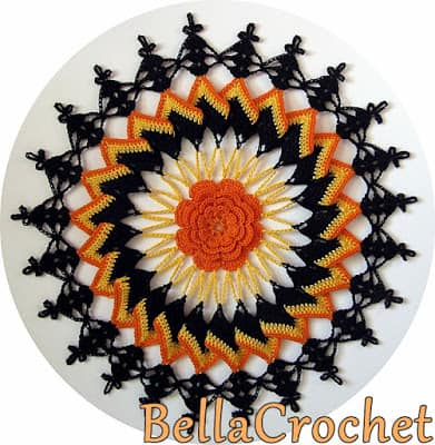 Free Crochet Pattern: Trick or Treat Doily