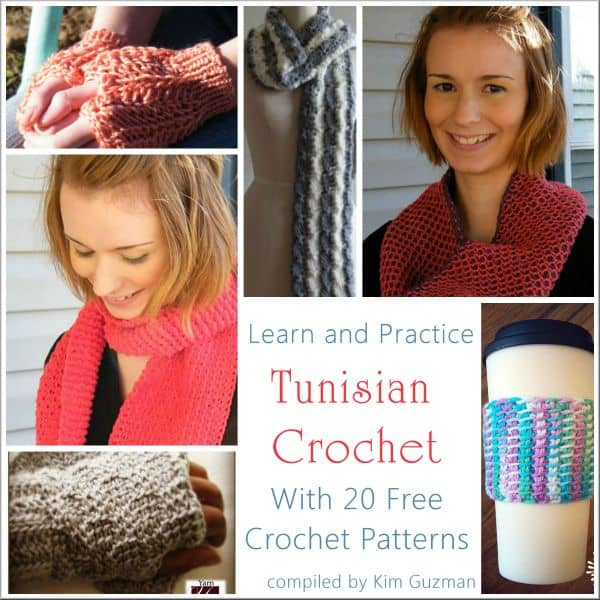 Link Blast: Learn Tunisian Crochet with 20 Free Crochet Patterns