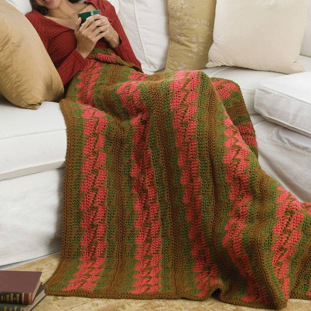 CrochetKim Free Crochet Pattern: Bargello Throw @crochetkim
