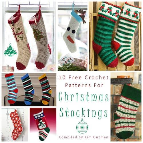 Link Blast: 10 Free Crochet Patterns for Christmas Stockings