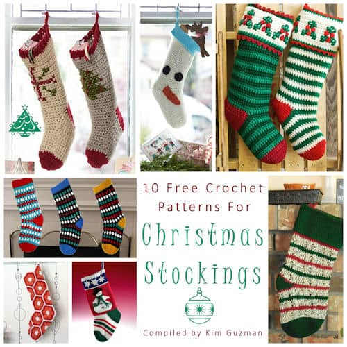 Link Blast: 10 Free Crochet Patterns for Christmas Stockings