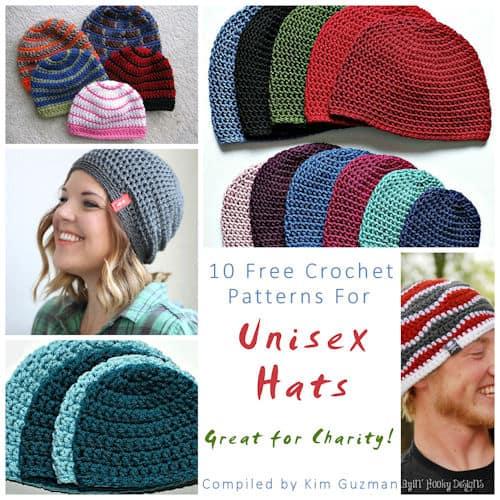 Link Blast 10 Free Crochet Patterns For Unisex Hats Crochetkim