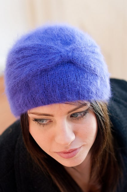 Free Knit Pattern Angora Cloche Hat