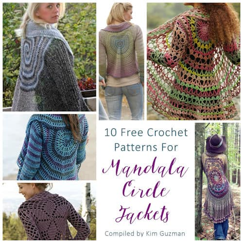 Link Blast: 10 Free Crochet Patterns for Mandala Circle Jackets