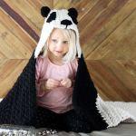 Panda Bear Hug Hooded Blanket