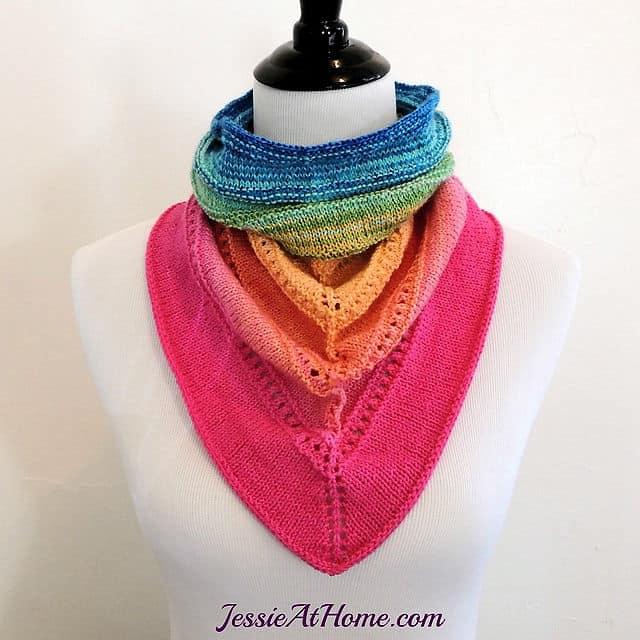 Free Knit Pattern: Spring Cowgirl Bandana Cowl