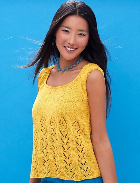 Free Knit Pattern Sunny Days Tank Crochetkim