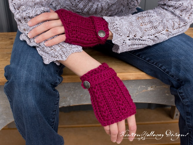 Heartstrings Fingerless Gloves Free Crochet Pattern Crochetkim