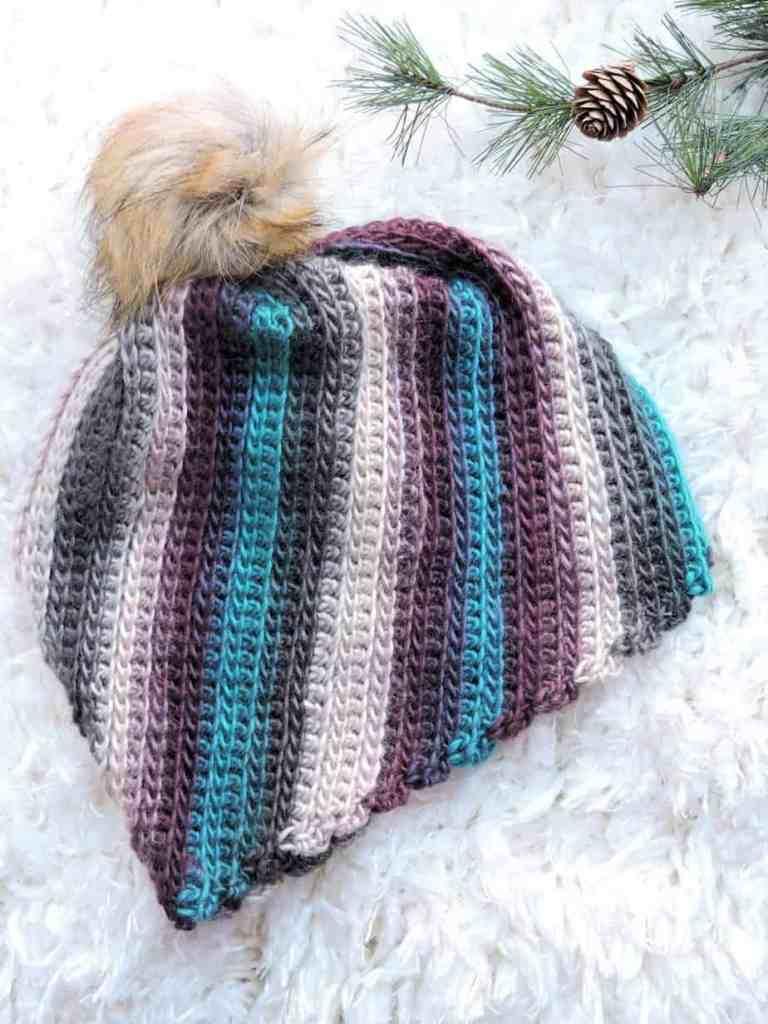Unforgettable Spiral Beanie CrochetKim Free Crochet Pattern