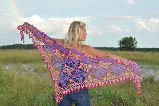 Free Crochet Pattern: Majestic Skies Shawl
