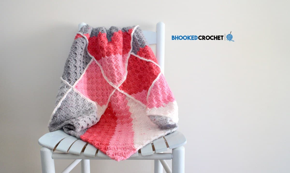 Free Crochet Pattern: Pop! Geometric Baby Blanket