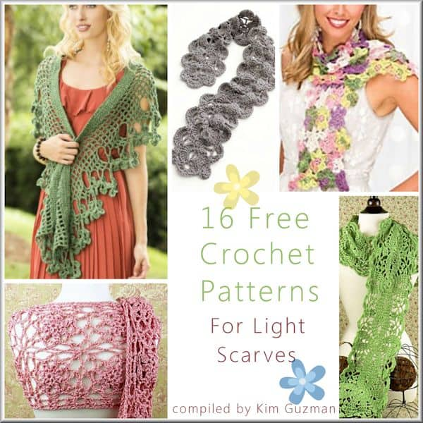 Link Blast 16 Free Crochet Patterns For Light Lace Scarves